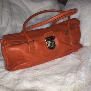 Prada Orange Leather Purse